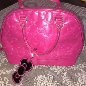 Hello KITTY Pink Large Patent PVC DOME BAG Purse